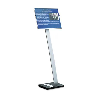 Info Sign Duo Floor Stand, Tabloid-Size Inserts