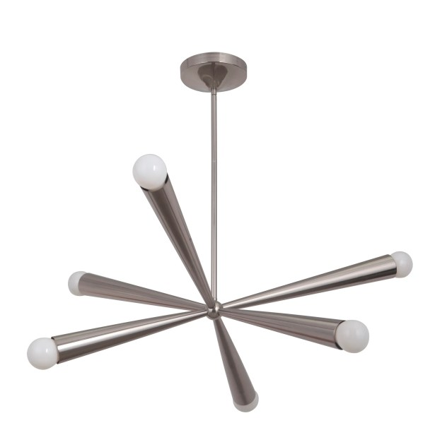 Broomfield 6-Light Chandelier Finish: Polished Nickel
