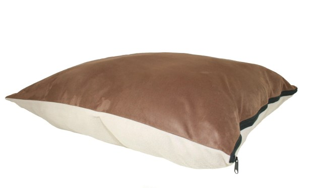 Maya Ultra Sherpa Dog Pillow Color: Poly-Suede Blue with Paw / Blue Berberium, Size: Large (40