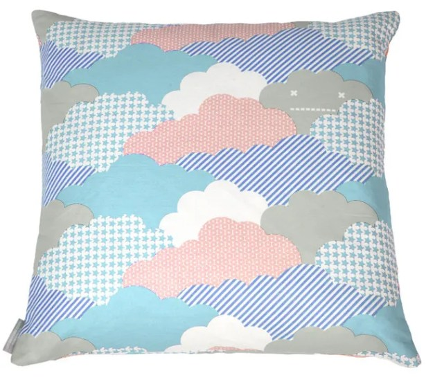 Clouds Euro Pillow Color: Sonic, Fill Type: Feather Down