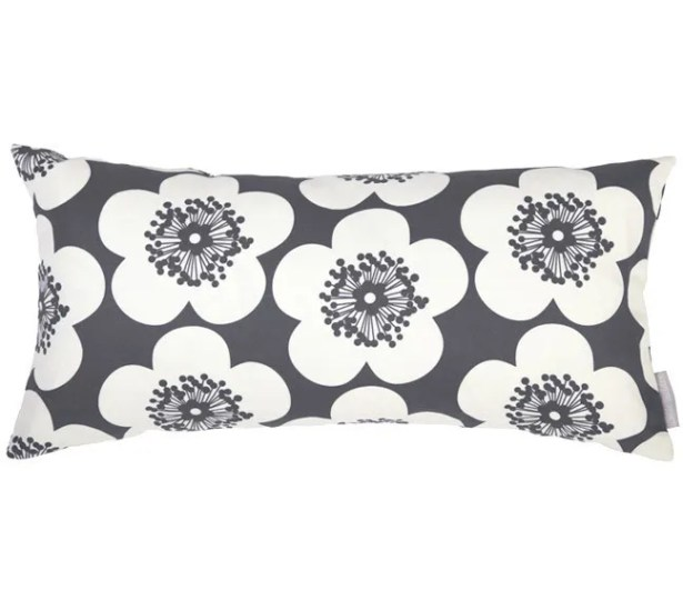 Pop Floral Bolster Pillow Color: Leaf, Fill Type: Feather Down