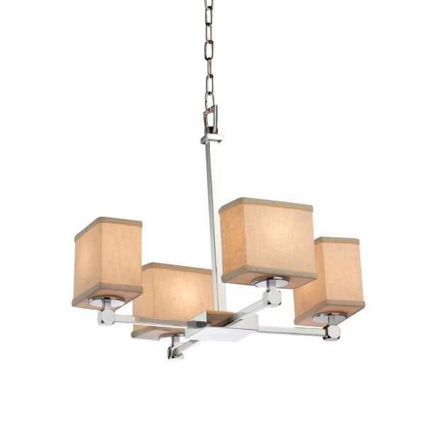 Red Hook 4 Light Rectangle Chandelier Finish: Brushed Nickel, Shade Color: White