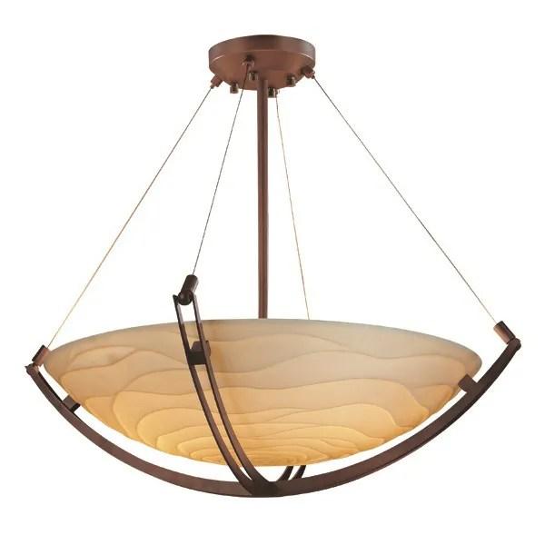 Thora 6-Light Bowl Pendant Finish: Dark Bronze, Impression: Waterfall