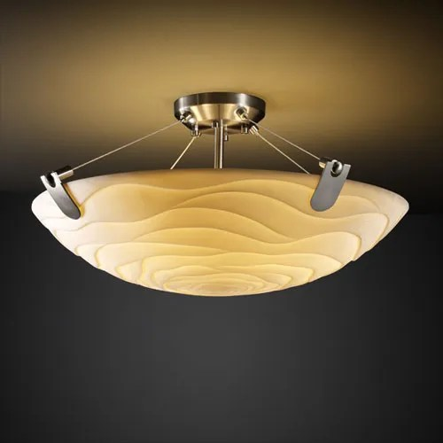 Thora 3-Light Round Bowl Semi Flush Mount Finish: Matte Black, Impression: Waterfall