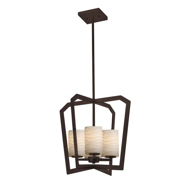 Darrien Intersecting 4-Light Foyer Pendant Finish: Dark Bronze