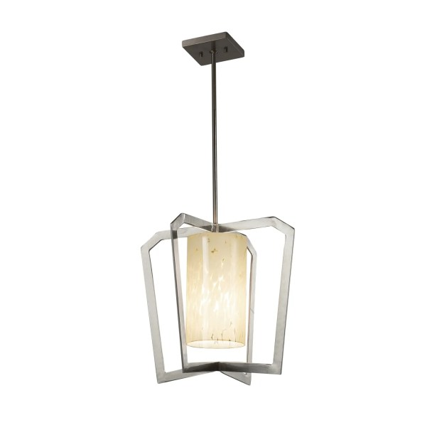 Luzerne 1-Light Intersecting Foyer Pendant Finish: Matte Black