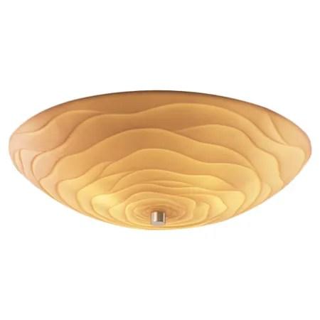 Thora Bowls 6-Light Flush Mount Finish: Antique Brass, Impression: Waves