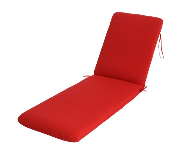Mindi Indoor/Outdoor Sunbrella Chaise Lounge Cushion Fabric: Jockey Red