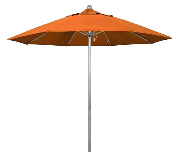Phat Tommy Silver Anodized 9' Market Umbrella Fabric: Tuscan