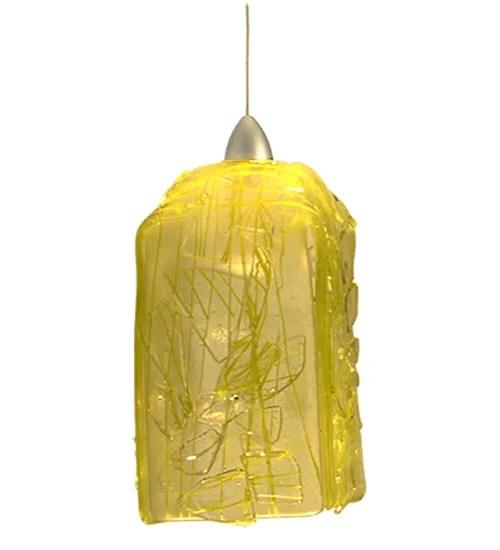 Metro Fusion Taffy Draped 1-Light Square/Rectangle Pendant Shade Color: Lemon