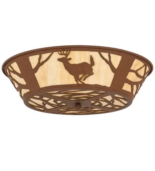 Deer on the Loose 4-Light Flush Mount
