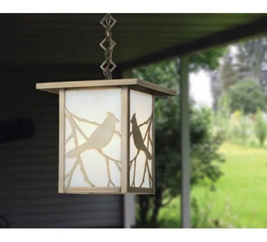 Hyde Park Song Bird 1-Light Square/Rectangle Pendant
