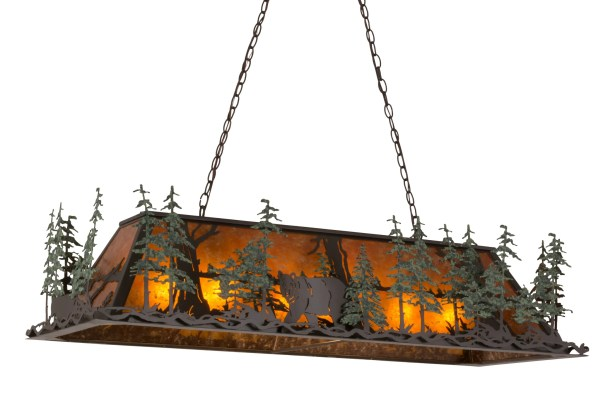 Greenbriar Oak 9-Light Square/Rectangle Pendant