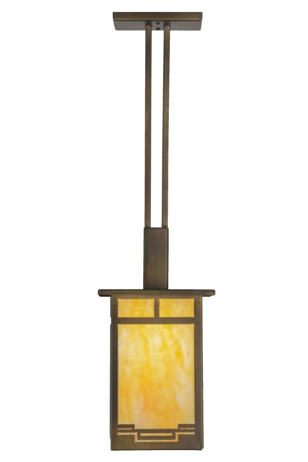 Greenbriar Oak 1-Light Square/Rectangle Pendant