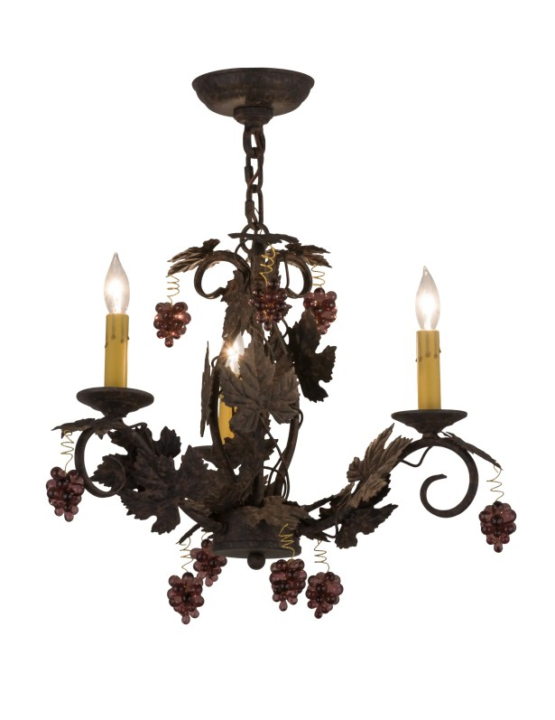 Vineyard 3-Light Candle Style Chandelier