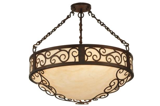 Lilliana 4-Light Bowl Pendant Size: 24