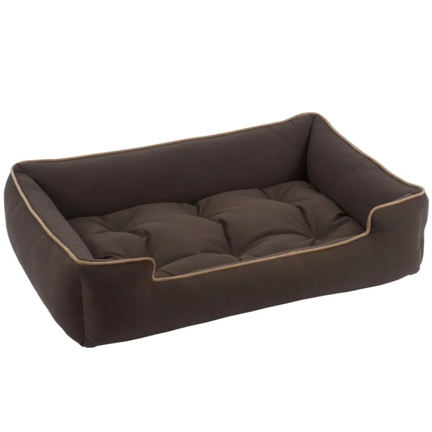 Sleeper Bolster Dog Bed Color: Chocolate, Size: Large (48