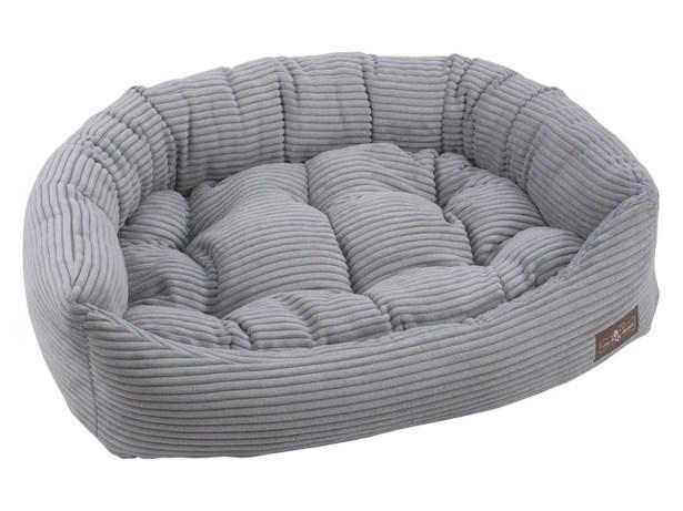 Corduroy Napper Bolster Dog Bed Size: 15