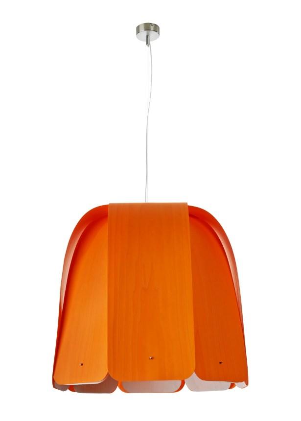 Domo 1-Light Inverted Pendant Bulb Type: GU24 Base, Finish: Natural Beech, Size: 15