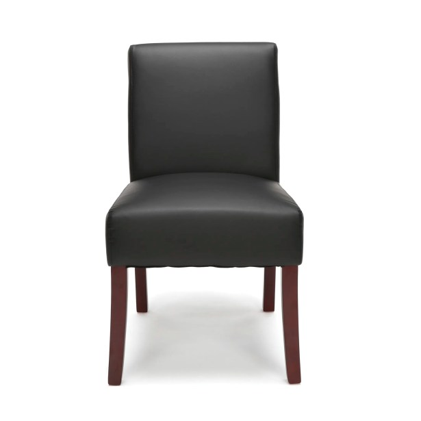 Watchet Armless Guest Chair Seat Color: Black