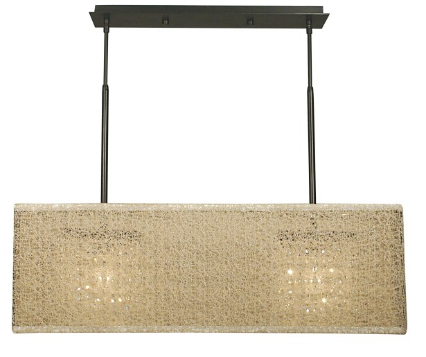Chloe 2-Light Kitchen Island Pendant Shade Color: Champagne, Color: Polished Silver
