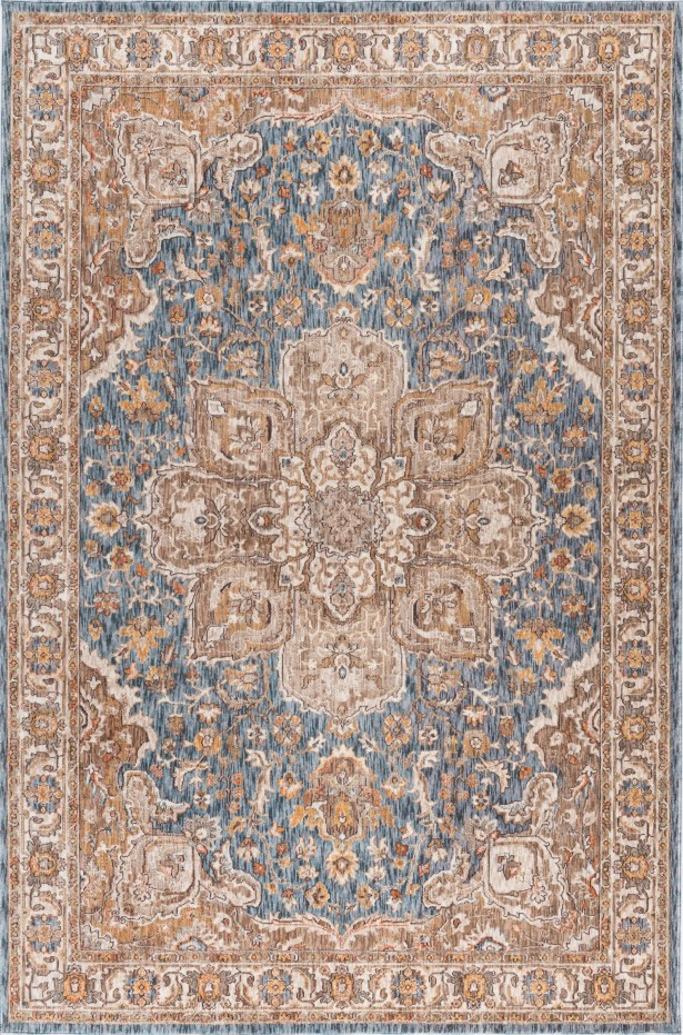 Matteson Traditional Navy/Orange Area Rug Rug Size: 5'3'' x 7'3''