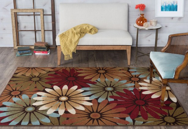 Corrina Red/Brown Area Rug