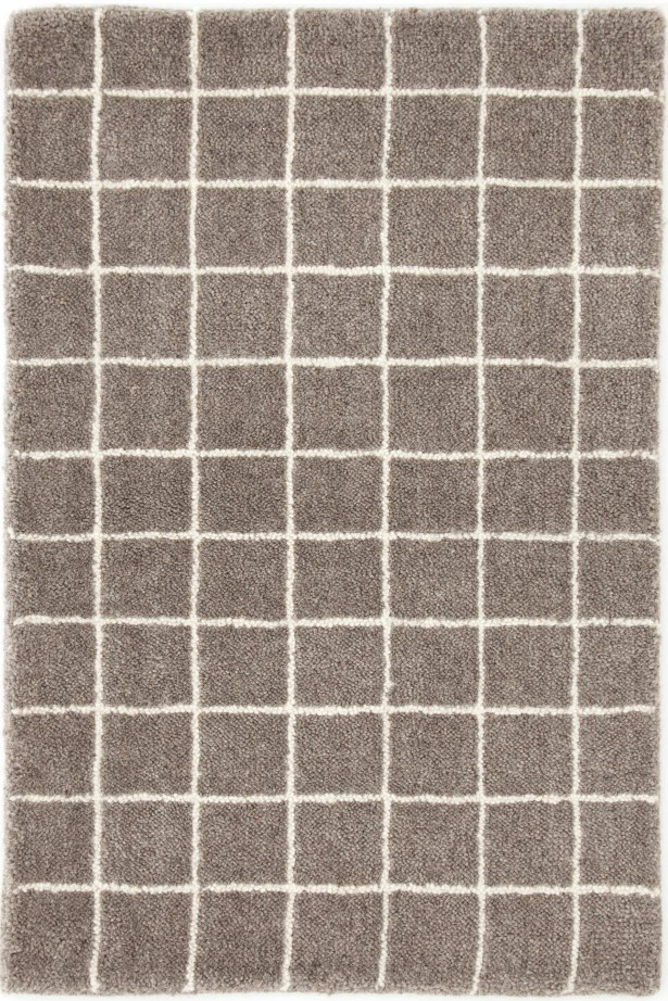 Grid Tufted Gray Area Rug Rug Size: Rectangle 8' x 10'
