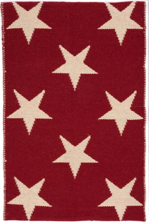 Star Hand Woven Red Indoor/Outdoor Area Rug Rug Size: Runner 2'6