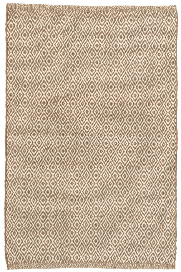 Crystal Brown/White Indoor/Outdoor Area Rug Rug Size: 3' x 5'
