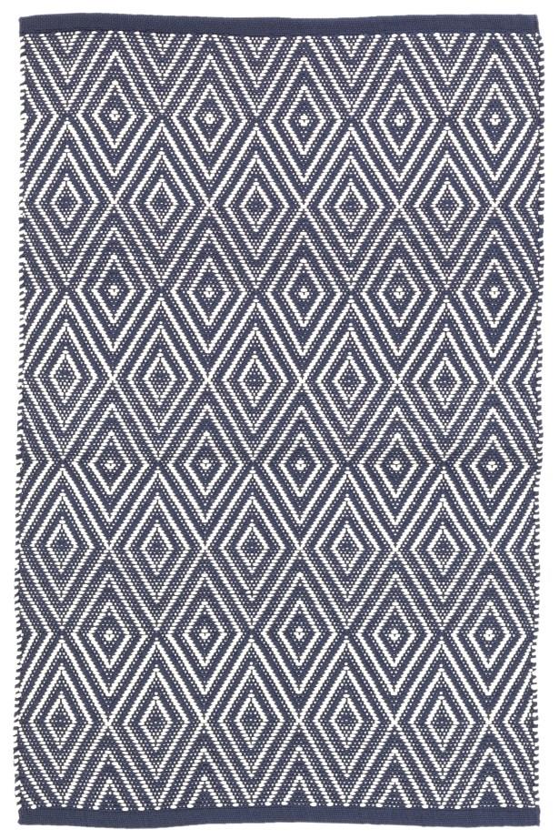 Diamond Navy Blue Indoor/Outdoor Area Rug Rug Size: 4' x 6'