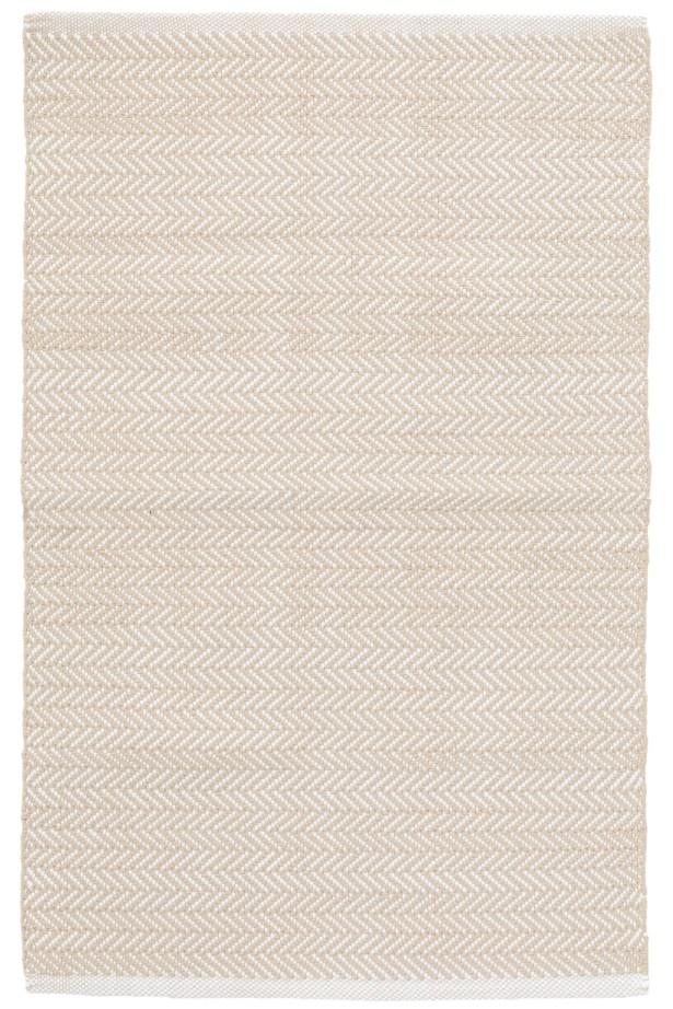 C3 Herringbone White Indoor/Outdoor Area Rug Rug Size: 3' x 5'