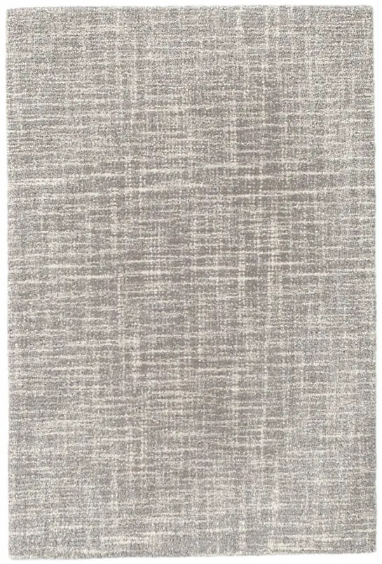 Crosshatch Micro Hand Hooked Wool Gray Area Rug Rug Size: 9' x 12'