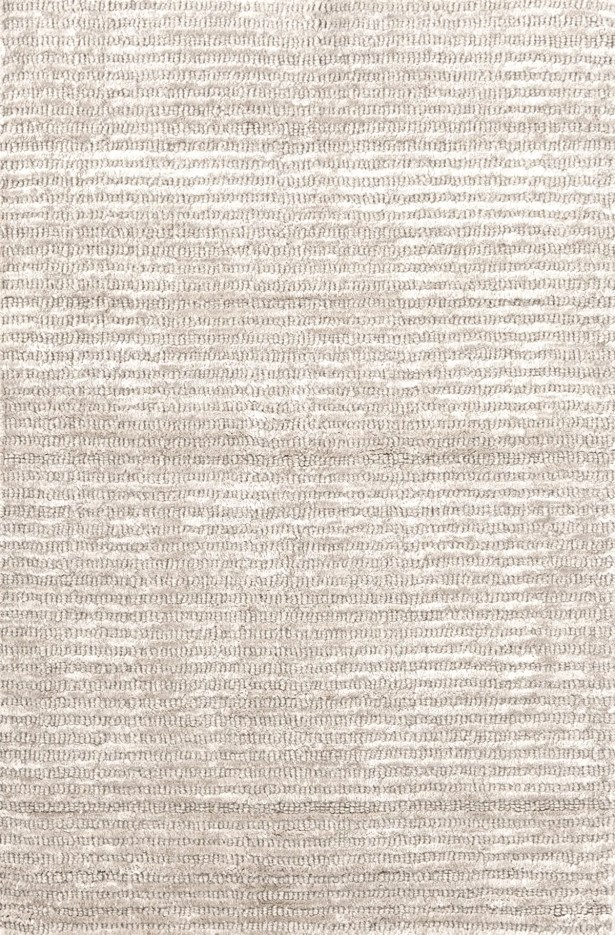 Cut Stripe Knotted Beige Area Rug Rug Size: Rectangle 5' x 8'