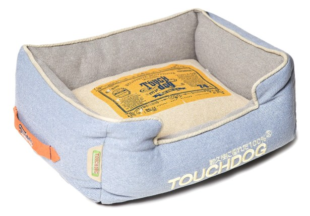 Original Denim Classical Rectangular and Reversible Dog Bed Color: Blue
