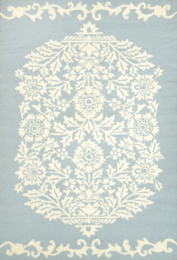 Repca Nyslsay Hand-Woven Blue/Cream Area Rug Rug Size: Rectangle 5'3