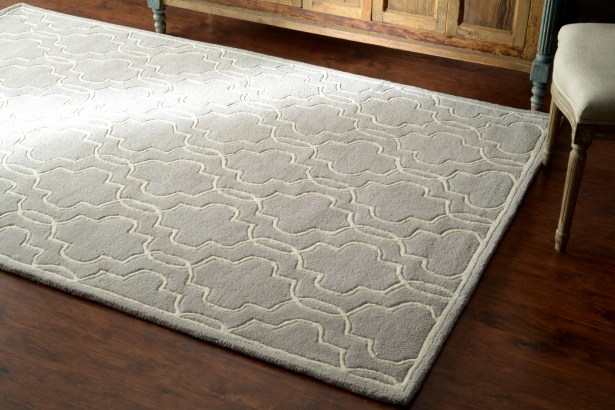 Venice Hand-Tufted Wool Gray Area Rug Rug Size: Rectangle 8'6