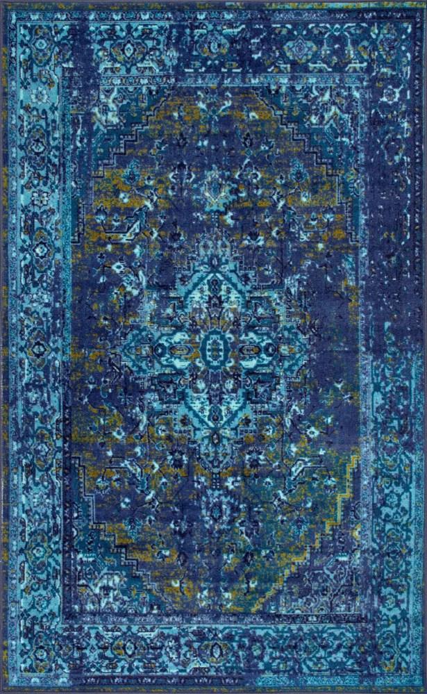 Mcchesney Blue Area Rug Rug Size: Rectangle 8' x 10'