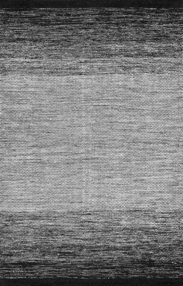 Charmine Cotton/Wool Black Area Rug Rug Size: Rectangle 7' 6