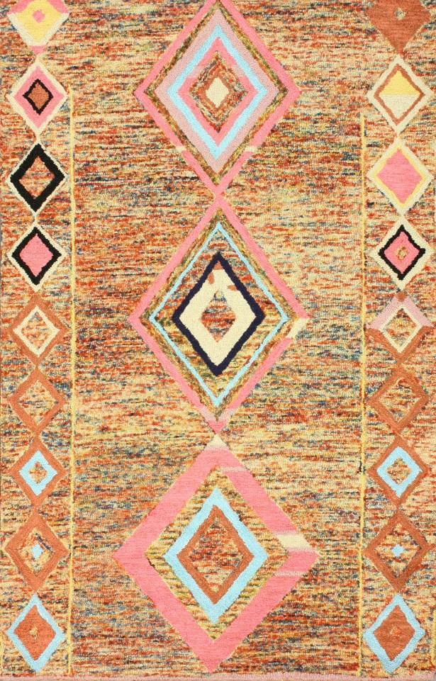 Marbella Brown Area Rug Rug Size: Rectangle 7'6