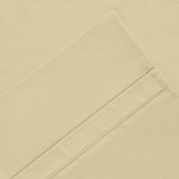 6 Piece 620 Thread Count 100% Long Staple Cotton Sheet Set Color: Linen, Size: California King