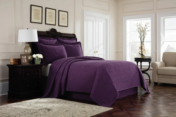 Williamsburg Richmond Bed Skirt Color: Purple, Size: Twin