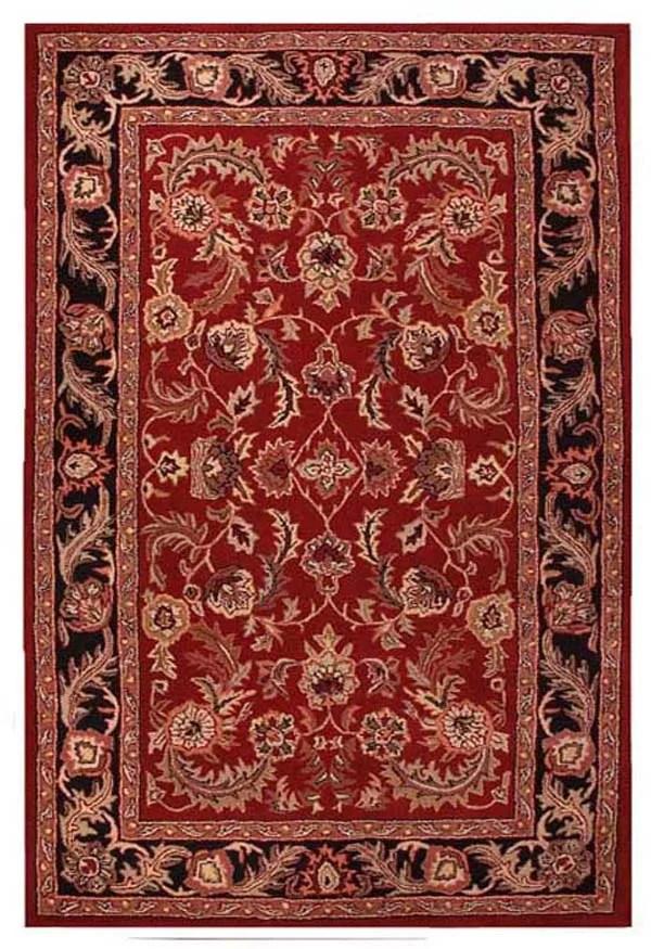 Artios Red/Black Area Rug Rug Size: 5' x 8'