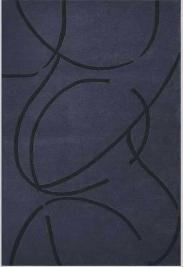 Contempo Dark Blue/Black Area Rug Rug Size: 8' x 10'6