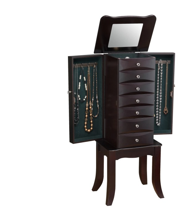 Oldham Jewelry Armoire with Mirror