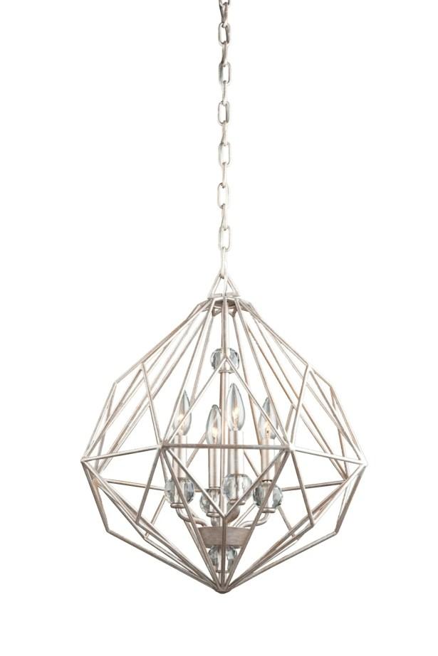 Whisman 4-Light Geometric Chandelier Finish: Textured Silver