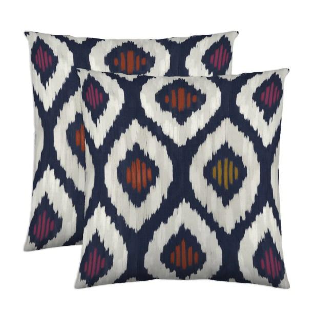 Aura Throw Pillow Color: Kimono