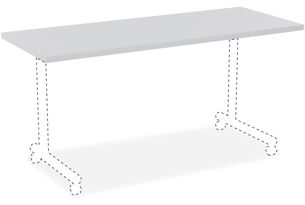 Invent Table Top Color: Light Gray, Size: 3