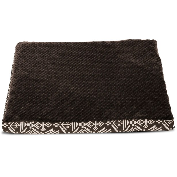 Callan Plush Top Kilim Deluxe Orthopedic Dog Pillow Color: Southwest Espresso, Size: Medium (30
