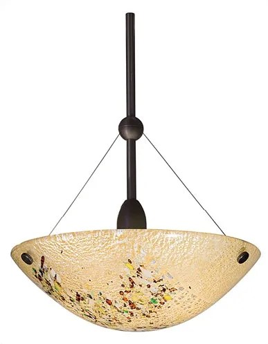 Mini Veneto 1-Light Bowl Pendant Color: Amber, Finish: Bronze, Mounting: Monopoint (canopy included)